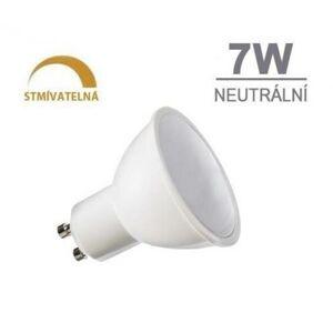 LED21 LED žárovka 7W 8xSMD2835 GU10 500lm neutrální bílá STMÍVATELNÁ